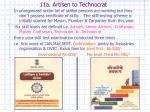 11a artisen to technocrat