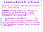 7 vocational training as per demand