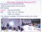call centre assistant training cct