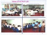 views of hi tech lab