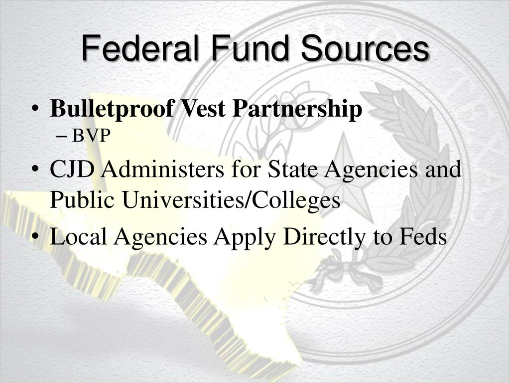 Federal Fund Sources
