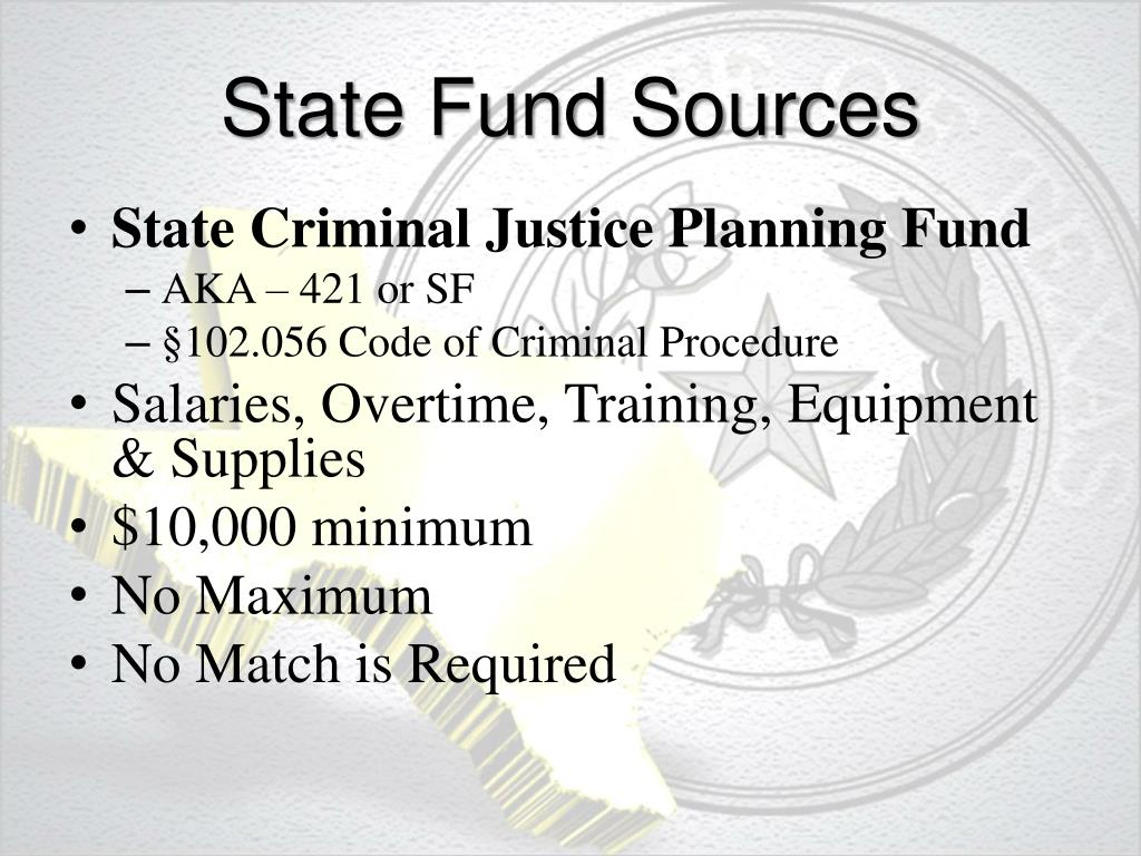 State Fund Sources