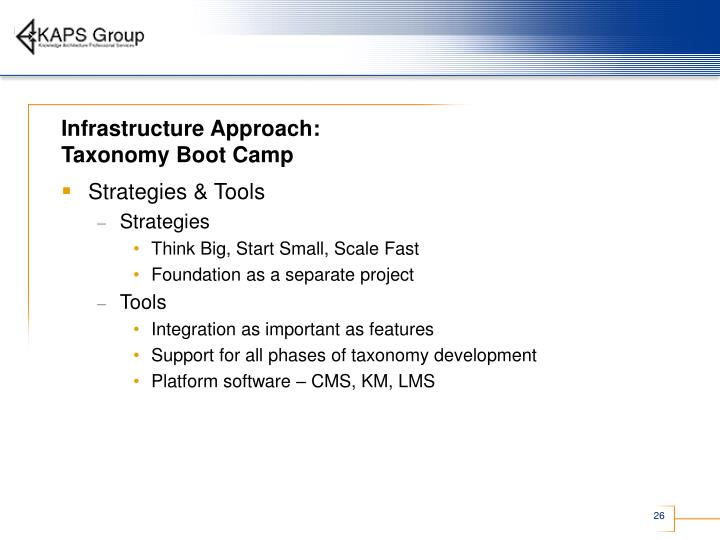 Infrastructure Approach: