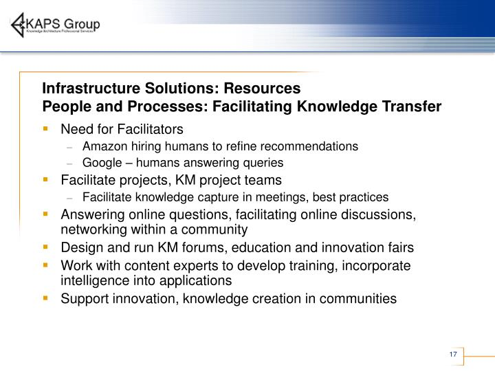 Infrastructure Solutions: Resources