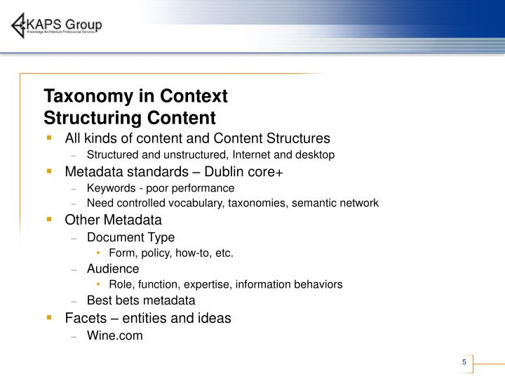Taxonomy in Context
