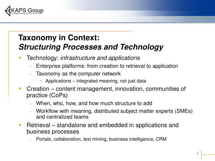 Taxonomy in Context: