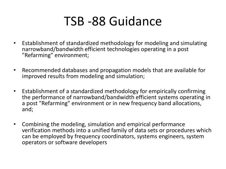 Tsb 88 guidance