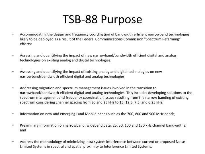 Tsb 88 purpose