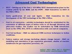 advanced coal technologies