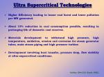 ultra supercritical technologies