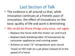 last section of talk