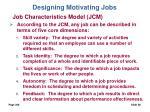 designing motivating jobs28