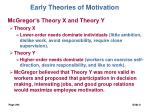 early theories of motivation8