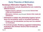 early theories of motivation9