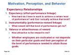 motivation perception and behavior23
