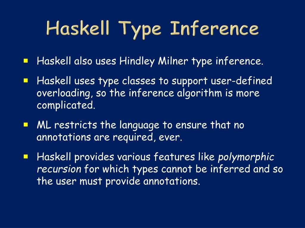 Haskell Type Inference