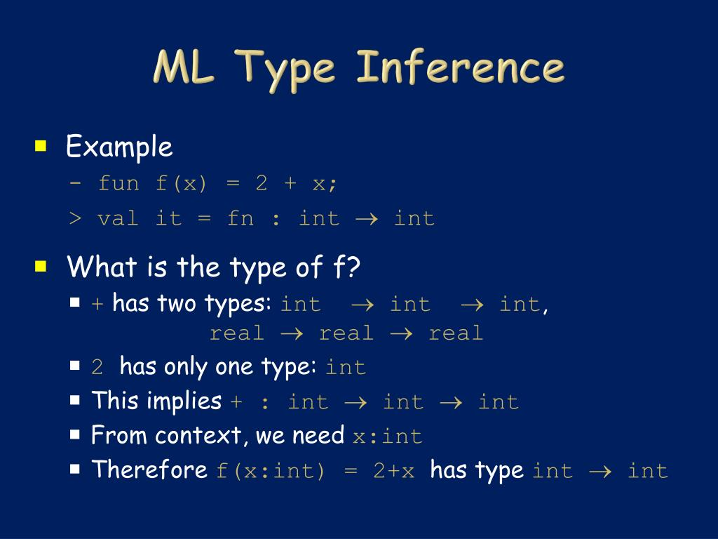 ML Type Inference