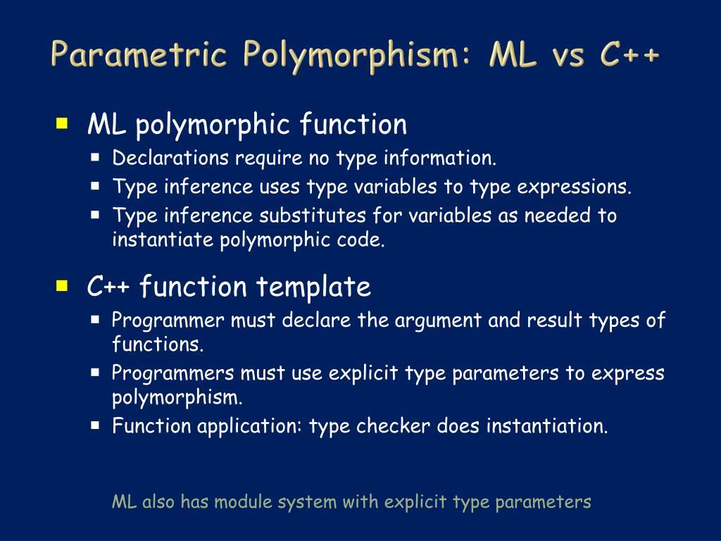 Parametric Polymorphism: ML