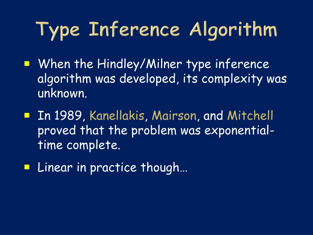 Type Inference Algorithm