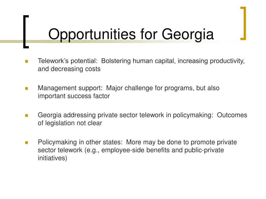 Opportunities for Georgia