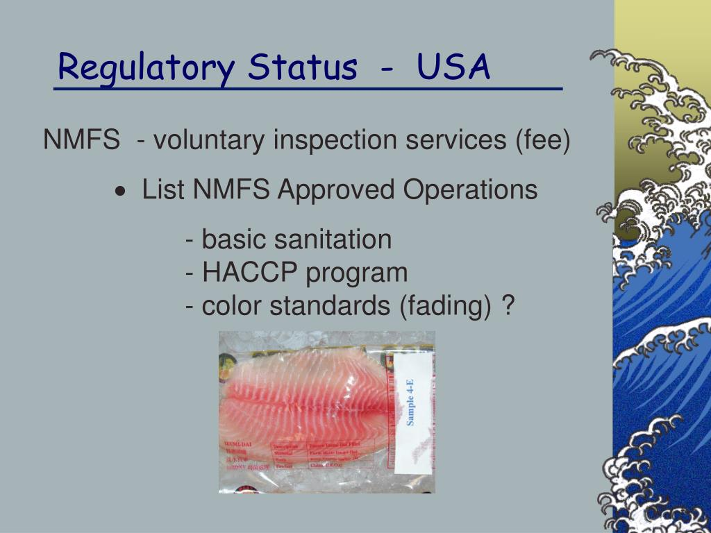 Regulatory Status  -  USA