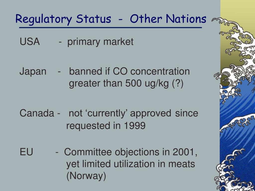 Regulatory Status  -  Other Nations