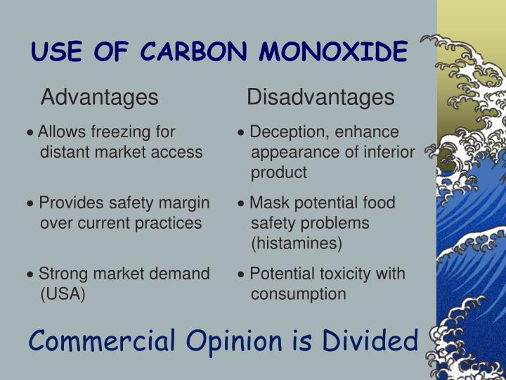 USE OF CARBON MONOXIDE
