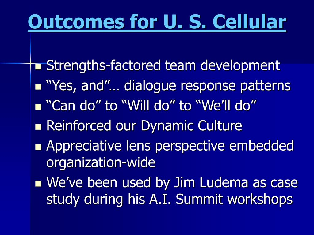 Outcomes for U. S. Cellular