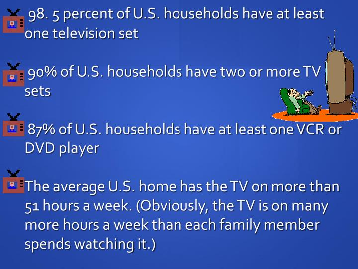 98. 5 percent of U.S. households have at least