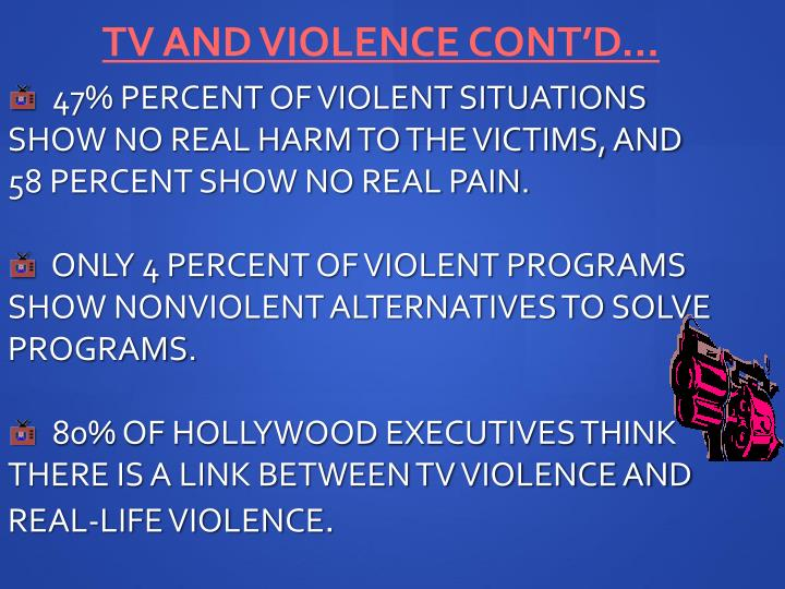 TV and Violence Cont'd…