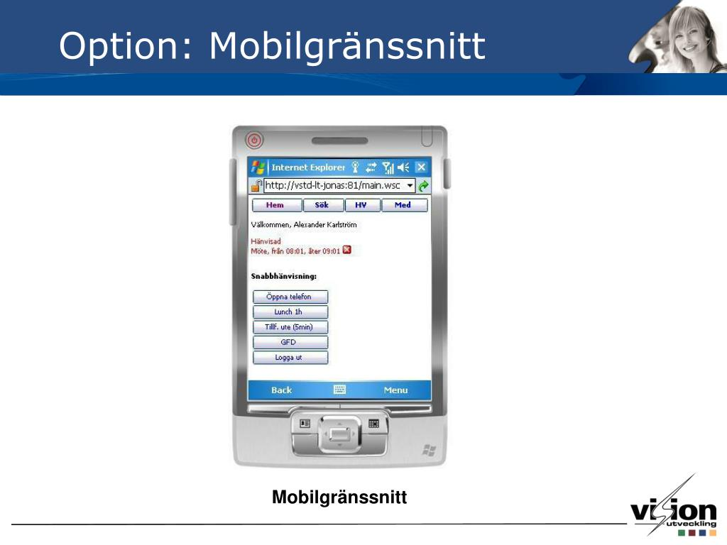 Option: Mobilgränssnitt
