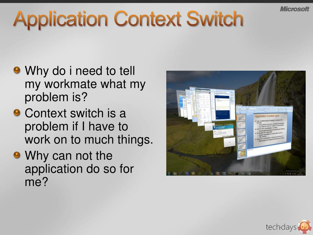 Application Context Switch