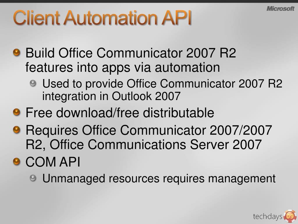 Client Automation API