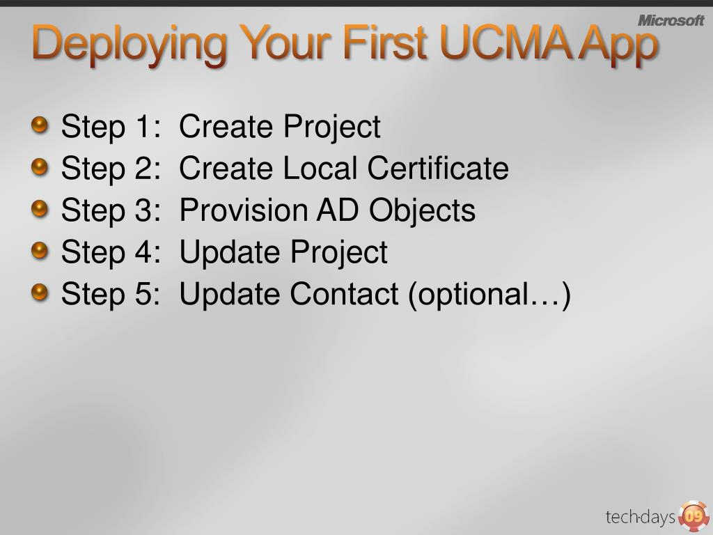 Deploying Your First UCMA App