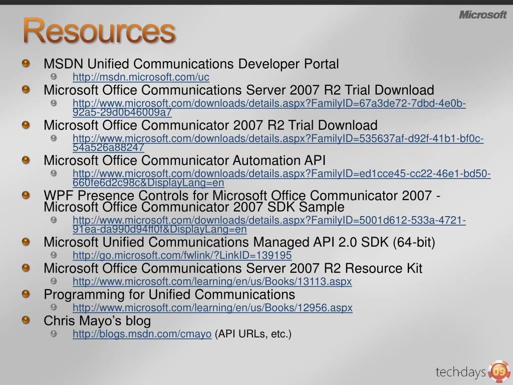 PPT - Unified Communications APIs PowerPoint Presentation