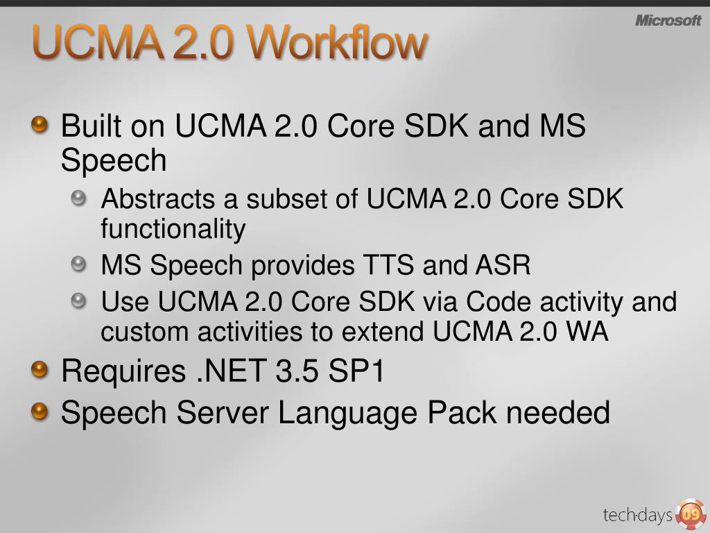 UCMA 2.0 Workflow