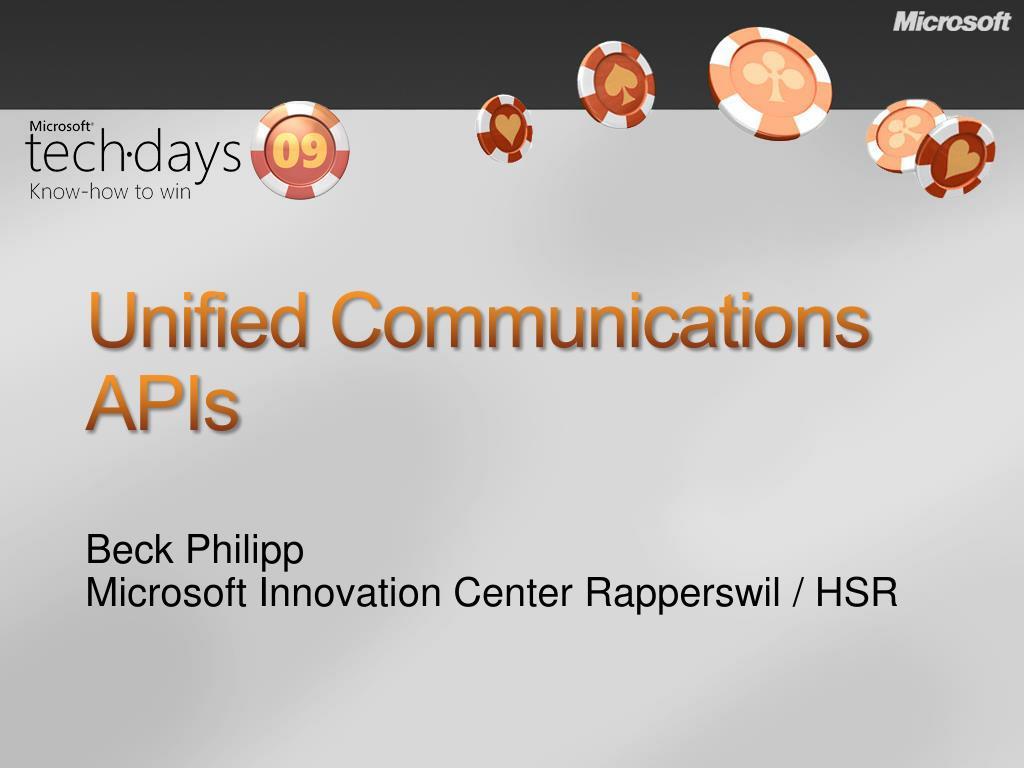 Unified Communications APIs