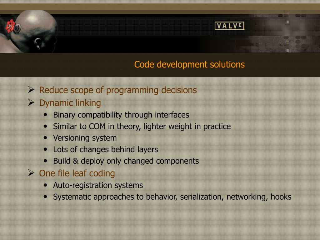 Code development solutions