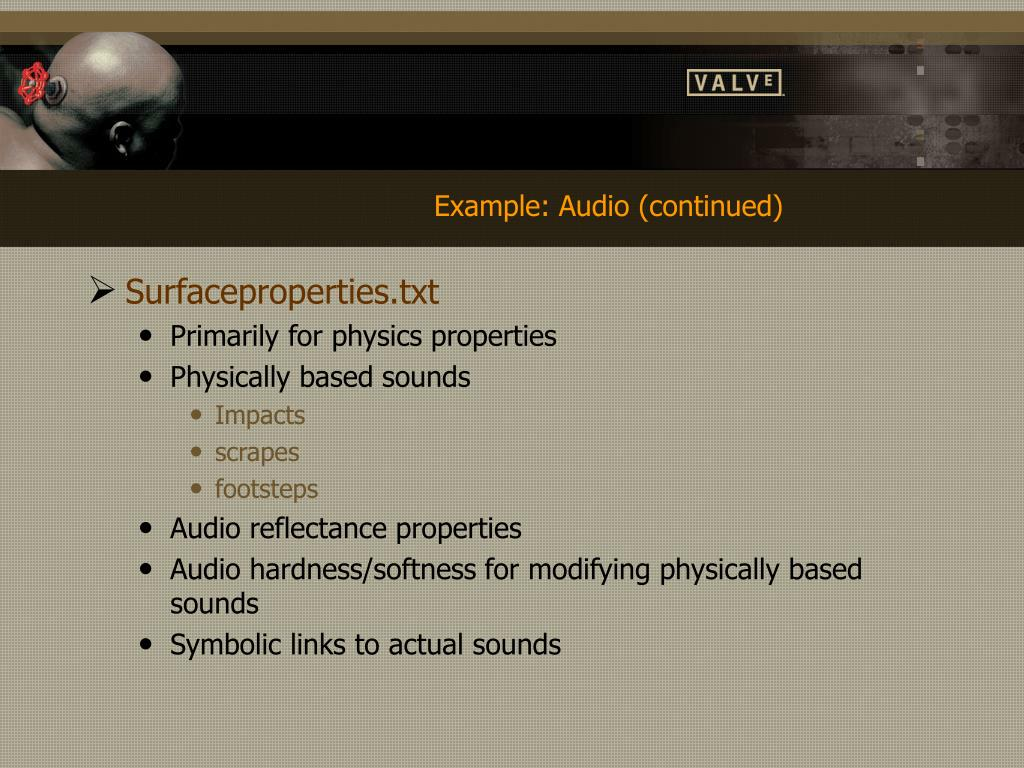 Example: Audio (continued)
