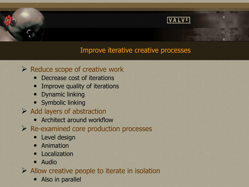 Improve iterative creative processes