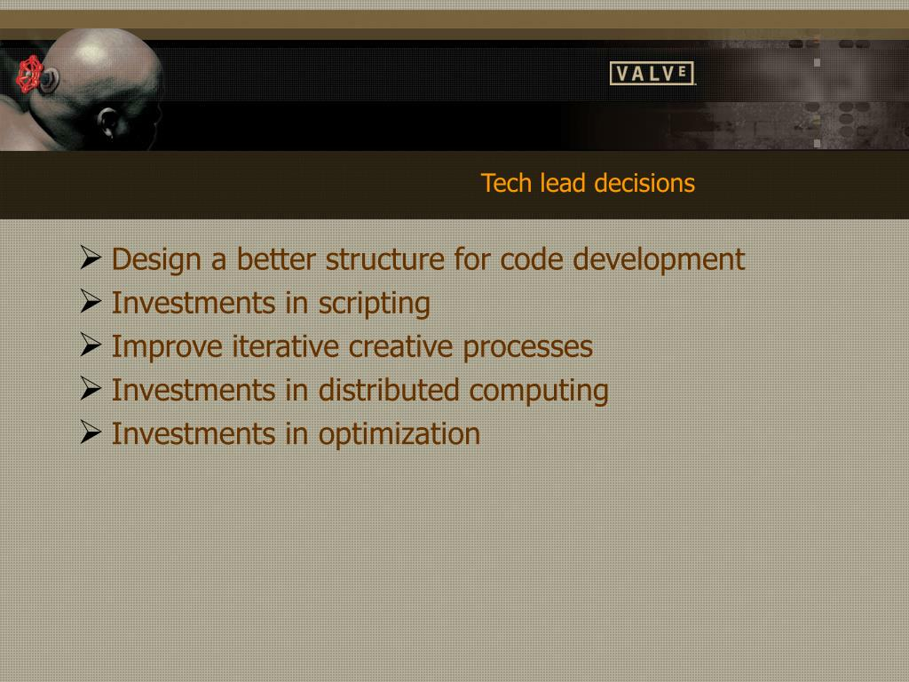 Tech lead decisions
