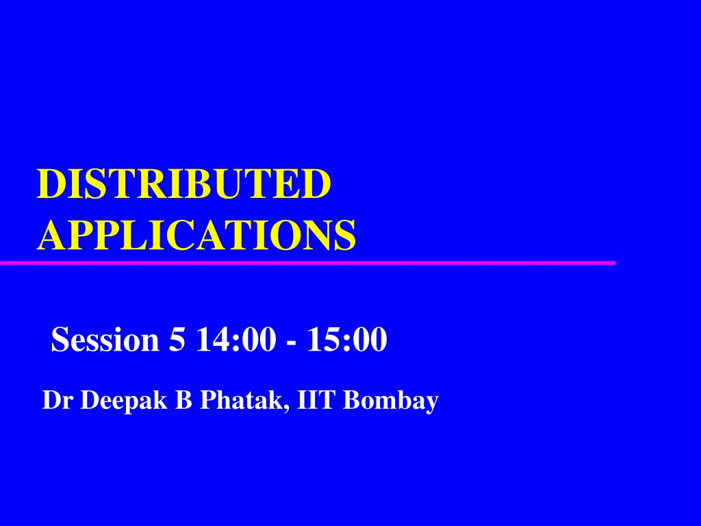 distributed applications l.