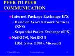 peer to peer communication61