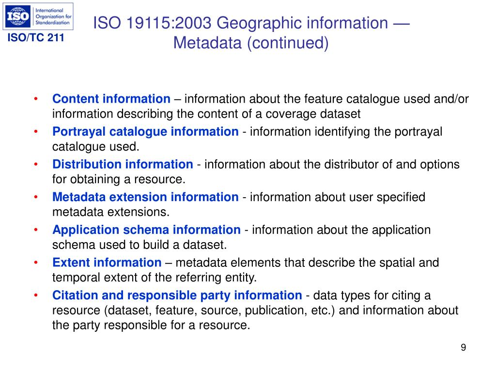 ISO 19115:2003 Geographic information —