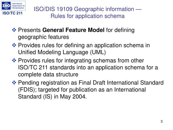 Iso dis 19109 geographic information rules for application schema