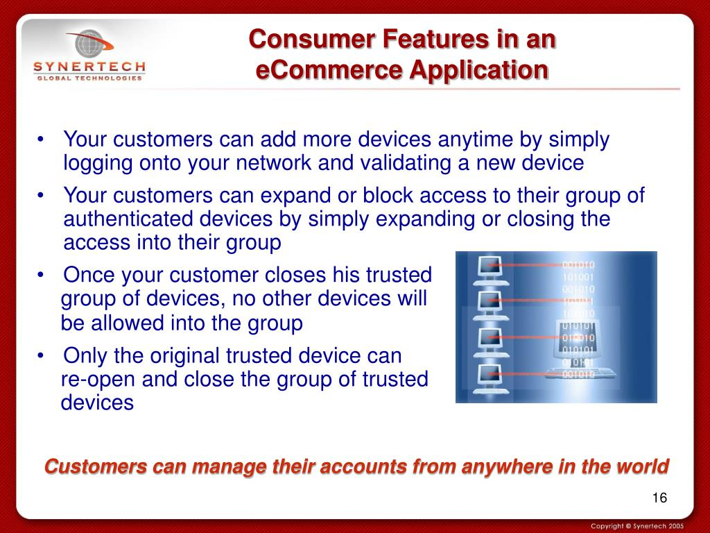 Consumer Features in an eCommerce Application