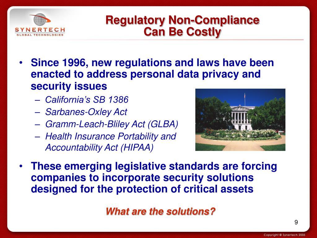 Regulatory Non-Compliance