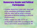 democracy gender and political participation