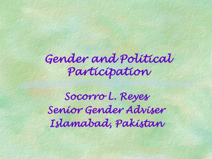 gender and political participation n.