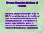 women changing the face of politics